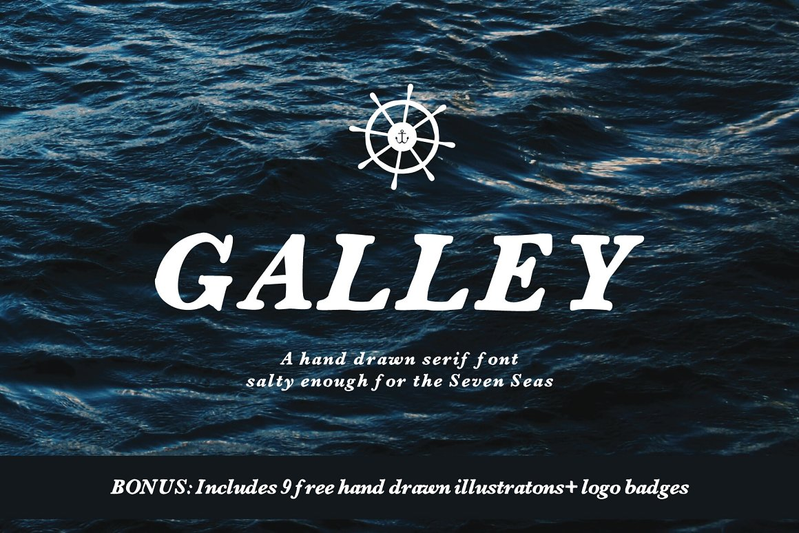 25 Nautical Fonts Inspired by Sailors, Sea, and the Navy