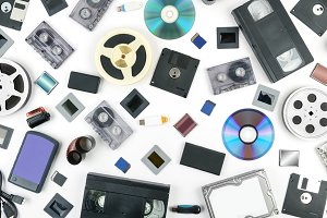 Old retro technology and new media