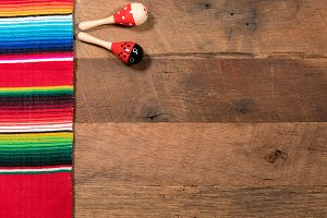 Cinco de Mayo background on wooden boards