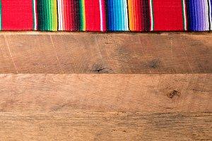 Cinco de Mayo background on wooden boards