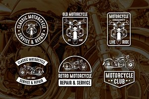 Vintage Motorcycle Logo & Badge