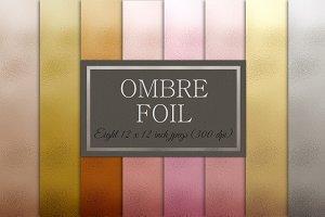 Ombre metallic foil