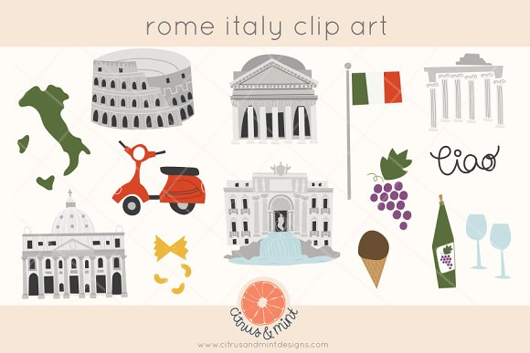 Rome Italy Clip Art