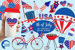 July 4th Clipart, 1367