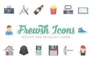 Frewsh Icons - 91 Flat Icons