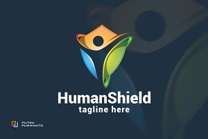 Human Shield - Logo Template