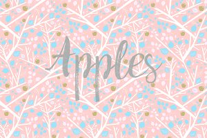 Apples & Leaves patterns