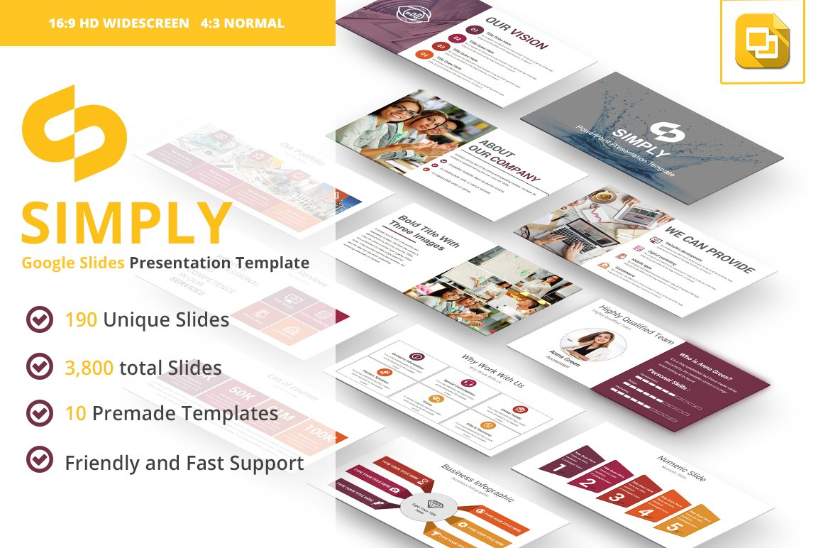 Simply Google Slides Template Presentation Templates Creative Market Business Star Diagram 2 Stages Ppt Backgrounds For