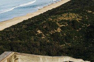View of Bruny Island beach