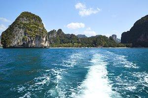 Happy Island with blue sky