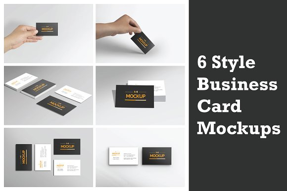 Download 6 Style Business Card Mockups