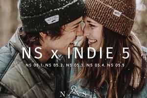 NS x Indie 5 // 5 Presets LR