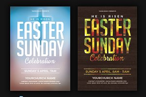 Easter Sunday Flyer Poster