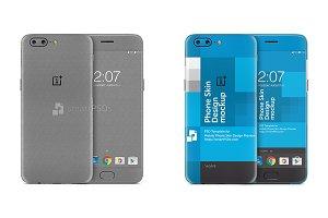 OnePlus 5 Mobile Skin Design Mockup