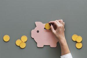Piggy bank future money savings