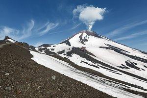 Fumarolic activity of volcano