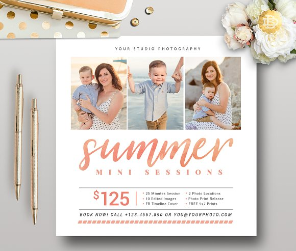 Summer Mini Session Template MS024