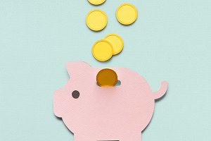 Piggy bank money savings (PSD)