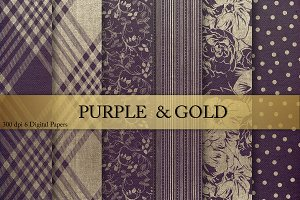 Gold Purple Textures