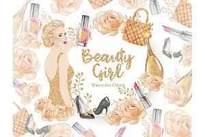 Beauty Girl Clipart, Beauty, Make Up