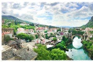 Bosnia and Herzegovina.Panorama