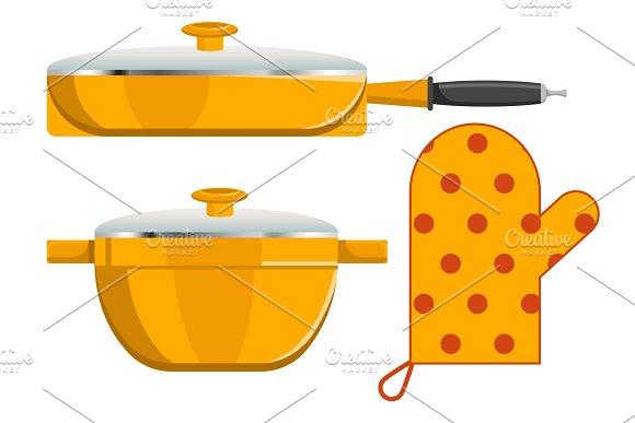 Three Kitchen Instruments Vector Illustration