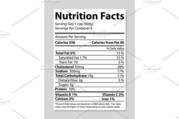 Nutrition Facts Banner Bright