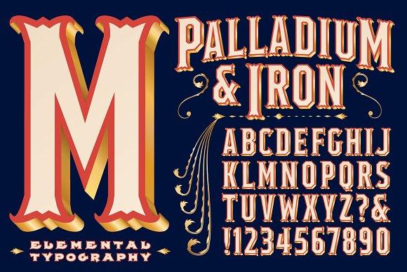 Lettering Design Palladium Iron