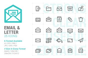 Email & Letter Mini Icon