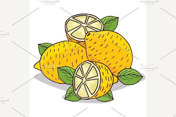 Isolate Ripe Lemon Fruit