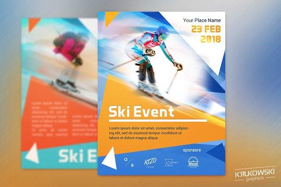 Ski Event Sport Flyer Template Flyer Templates Creative Market