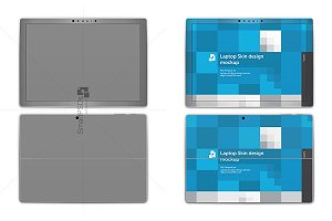 Surface Pro 4 Laptop Skin Mockup