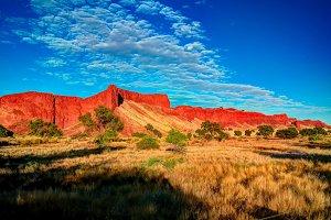 Petrified dunes at the sunrise at Na