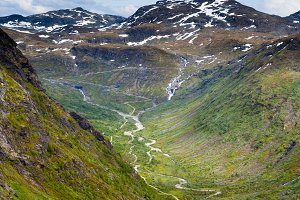 Valley in Norway top view
