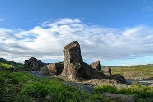 Hljodaklettar stone formations in Jo
