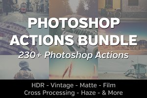 230+ Photoshop Actions Bundle