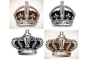 Crowns set.