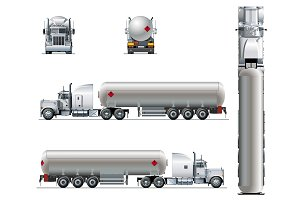 Vector realistic tanker truck