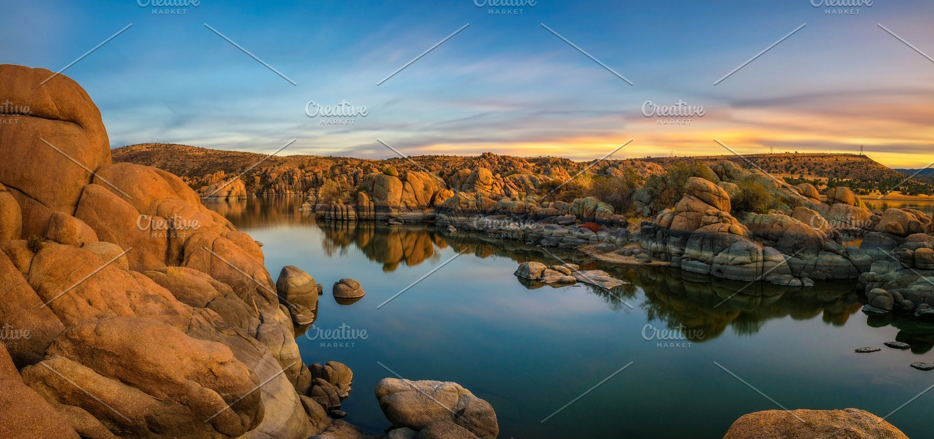 pretty nice 47c24 01f50 Sunset above Watson Lake in Prescott, Arizona
