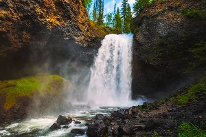 Moul Falls on Grouse Creek in Canada