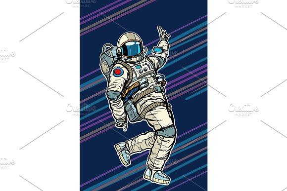 Astronaut Dancing Disco Funny
