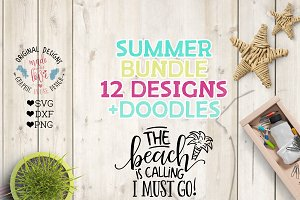 Summer Designs Cut Files Bundle
