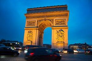 Triumphal Arch. Paris, France
