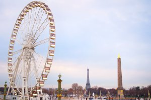 Ferries wheel in Paris, France