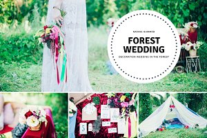 Wedding decoration in the forest