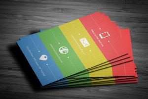 Metro Colorful Business Card