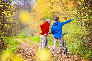 Senior couple in the nature.
