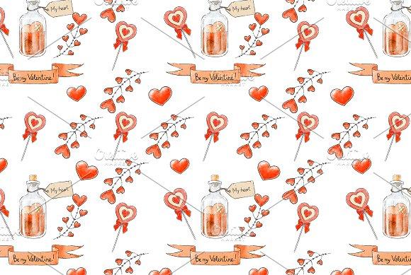 Valentine's Day Seamless Patterns