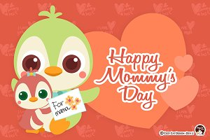 Digital Clipart Happy Mommy's Day