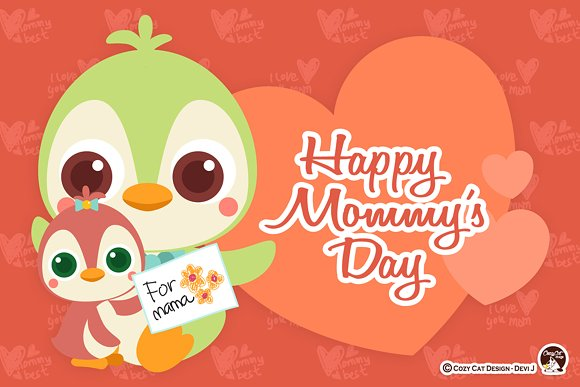 Happy Mommy's Day Digital Clipart